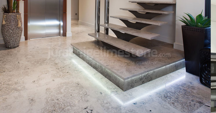 Residential project - Jura Grey limestone