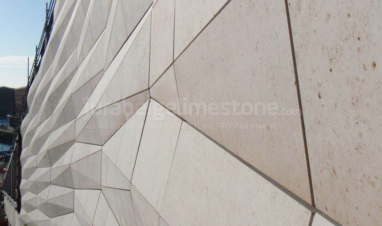 Jura Beige limestone cladding in Liverpool, UK