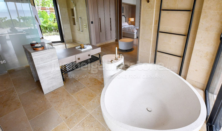 Jura Beige limestone bath decoration